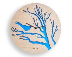Moderne Wanduhr Blättern große Wanduhr hölzerne Uhr Holz