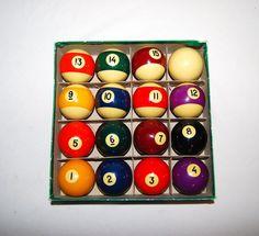Vintage Pool Balls by CheekyVintageCloset on Etsy, $52.00