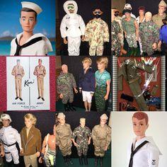 Memorial Day weekend collage of Ken, Allan & GI Joes.