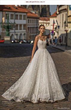 c79601501dff Helena Kolan 2019 Wedding Dresses helena kolan 2019 bridal spaghetti strap  scoop neckline full embellishment romantic a line wedding dress backless  scoop ...