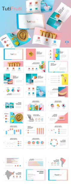 TutiFruti- Keynote Template by aqrstudio on Envato Elements Keynote Design, Design Ppt, Slide Design, Booklet Design, Design Layouts, Design Posters, Brochure Design, Graphic Design, Keynote Presentation