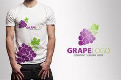 Grape logo by CreativeDezing on @creativemarket
