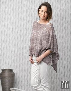 Poncho in Katia Air Lux uit magazine 80   http://www.wolwolf.be/Air-Lux