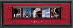 Paris, France Framed Letter Art