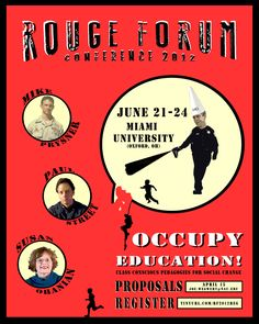 Rouge Forum 2012 poster. Join us at Miami University (Oxford, OH)