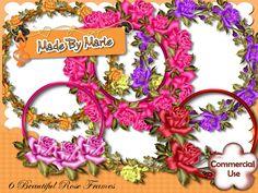 Snappyscrappy - Made By Marie  http://www.craftsuprint.com/designer-resources/digital-embelishments/digital-embelishments-accents-ornaments/6-beautiful-rose-cluster-frames.cfm