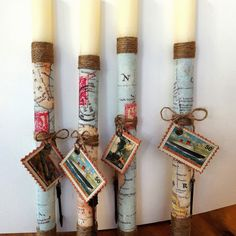 Easter candles ... Easter Crafts, Candles, Ideas, Decor, Dekoration, Decoration, Candy, Thoughts, Candle