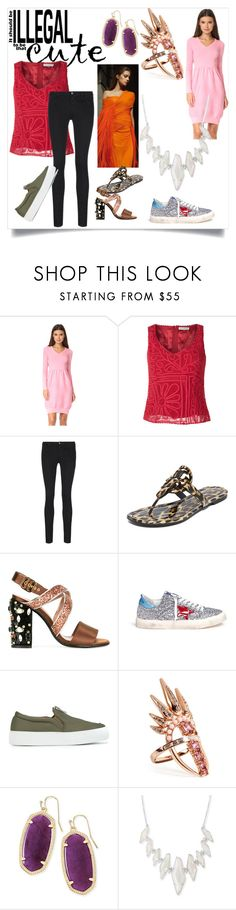 """Great Fashion"" by mkrish ❤ liked on Polyvore featuring Boutique Moschino, Martha Medeiros, J Brand, Tory Burch, Marni, Golden Goose, Joshua's, Nikos Koulis and Kendra Scott"