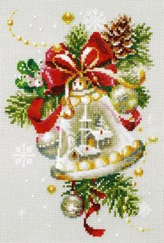 Counted Cross stitch Christmas card Kit by Bothy Threads Der Christmas Cheer