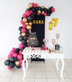 17th Birthday, Happy Birthday, Bolo Neon, Birthday Decorations, Cake, Party, How To Make, Home Decor, Sunflower Birthday Parties
