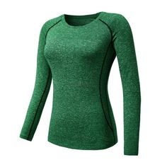 dac941c2 Women Sports Compression Base Layer Shirt Yoga Long Sleeve Tops Blouse  Quick Dry