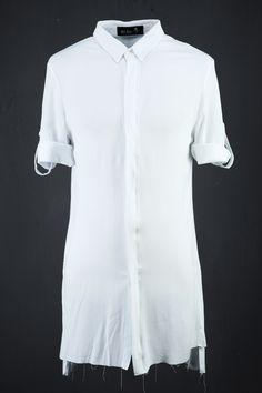Back Open Frayed Shirt