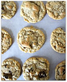 oatmeal chocolate chip cookies...these are sooooo yummy and the dough is awesome!