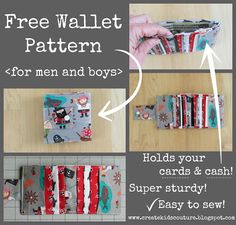 Hidden Treasure: Free Wallet Pattern for Men and Boys!