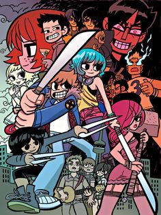 Scott Pilgrim Graphic Novel Series by Bryan Lee O'Malley