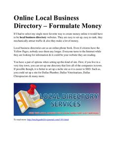 relevant-articles-written-on-online-business-directory-michiganbd by Michigan BD via Slideshare