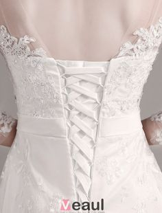 a line wedding dresses with 3/4 sleeves - Google Search