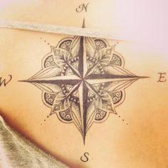 Compass tattoo...possible next tattoo...compass tattoo ideas