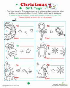 Printable christmas cards to color free printable christmas christmas preschool holiday worksheets color your own christmas gift tags negle Choice Image