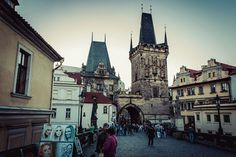 Mala Strana Bridge Towers, Charles Bridge, Prague. Czech Republic