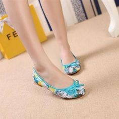 Bow-Accent Floral Flats from #YesStyle <3 AM Chics YesStyle.com