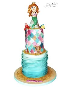Little Mermaid inspired birthday cake! Call or email to order your celebration cake today. Little Mermaid Birthday Cake, The Little Mermaid, Disney Themed Cakes, 4th Birthday Cakes, Cakes Today, Cupcake Wars, Mermaid Cakes, Celebration Cakes, Cake Art