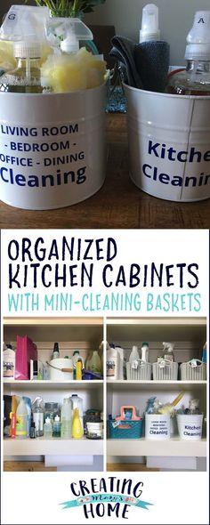 Mini-Cleaning Buckets - creatingmaryshome.com