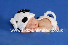 Newborn Hand Knitted Pongo Dalmation Dog Hat by KJPhotographyProps, £32.00