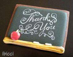 Ibicci: Teacher Appreciation. Chalk board. Apple. Thank you. ♡