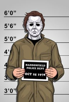 The next suspect - Michael Myers Usual Suspects -Mr. Slasher Movies, Horror Movie Characters, Horror Movies, Halloween Movies, Halloween Horror, Scary Movies, Halloween H20, Horror Artwork, Funny Horror