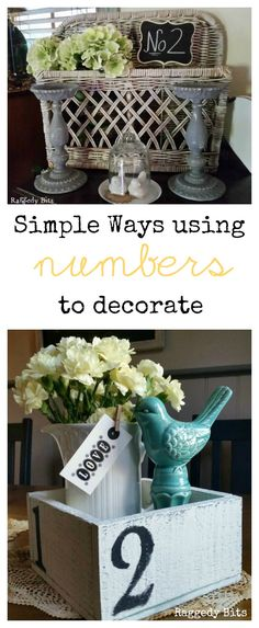 There is something so lovely about using numbers to decorate in your home. I am sharing some of my simple ways using numbers to decorate around my home.