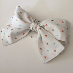 Baby Headwrap, White with triangles, Headwrap, Baby Girl Headwrap, newborn Headwrap, boho Headwrap, Toddler Headwrap, Infant Headwrap by KristelSummer on Etsy https://www.etsy.com/listing/250569942/baby-headwrap-white-with-triangles