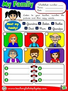 My Family - Worksheet 5