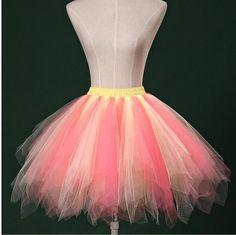 Splits Underskirt Colorful Skirt Ballet Tutu Skirt Wearing One Stage Short Puffy Petticoat For Women 40-45cm Elastic