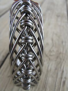 men's stainless steel hand bent wire woven wide by cricketcapers. , via Etsy.
