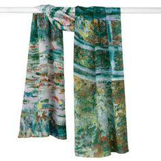 Monet Bridge and Water Lilies Scarf - The Met Store
