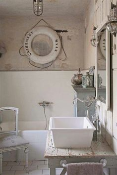 Brocante badkamers on pinterest cleanses white bathrooms and sweets - Badkamer recup ...