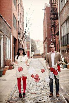 February wedding banners, Valentine's wedding photo shoots, vintage lace wedding dresses#valentines dayv