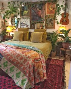33 beautiful bohemian bedroom decor to inspire you decoration Bohemian House Decor Beautiful Bedroom Bohemian Decor Decoration Inspire Bohemian Bedroom Design, Bohemian House, Bohemian Bedrooms, Eclectic Bedrooms, Modern Bedroom, Hippy Bedroom, Modern Bohemian, Bohemian Room, Boho Chic