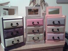 Handpainted jewelry boxes Bathroom Hooks, Jewelry Box, Dresser, Boxes, Hand Painted, Furniture, Home Decor, Jewellery Box, Jewel Box