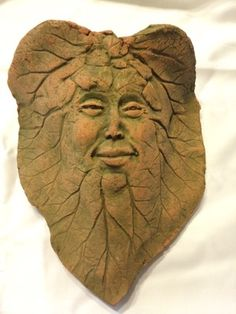 Handmade Leaf w Face Wall Pocket Planter in Austin, TX (sells for $25)
