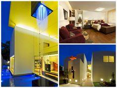casa RC lassala orozco. Casa con cascada interior México Arquitectura #interiordesign #mexico #Award #iberoamericano #diseño #diseñointeriores #arquitectura #architecture