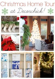 Christmas Home Tour | www.decorchick.com #easyholidayideas