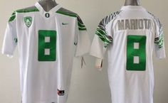 """$25.88 at """"MaryJersey"""" (maryjerseyelway@gmail.com) #8 Marcus Mariota - Ducks White Stitched Youth NCAA Jersey"""