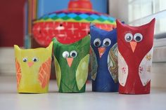 Toilet Paper Tube Owls (TRIED IT they turn out so cute. I just did mine with paint)