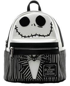 444d66020dee loungefly disney nightmare before christmas jack skellington mini backpack  purse skeleton gothic halloween shoulder-bag fashion-backpack