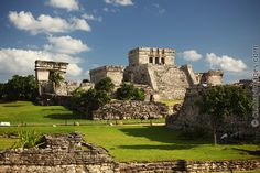 QUINTANA ROO, MEXICO, TULUM RUINS: The amazing ruins from the ancient Myan culture are full of history and suspense.  Tulum sits right on the ocean, and is a short drive from our resort in Playa del Carmen.