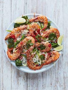 Sticky sesame prawns | Jamie Oliver