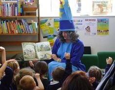 @Jennifer Agnew Libraries & Heritage  Winnie the Witch at Bacup. Celebrating her birthday with stories.