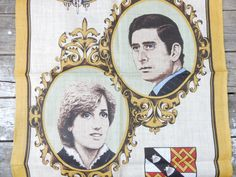 Royal Wedding tea towel, 1981, Princess Diana and Prince Charles, St Paul's Cathedral, Irish Linen, Ulster, fswp by littlecleoathome on Etsy https://www.etsy.com/listing/234592251/royal-wedding-tea-towel-1981-princess